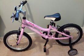 "Kids bike with 16"" wheels and stabilisers, Ridgeback Melody 2015"