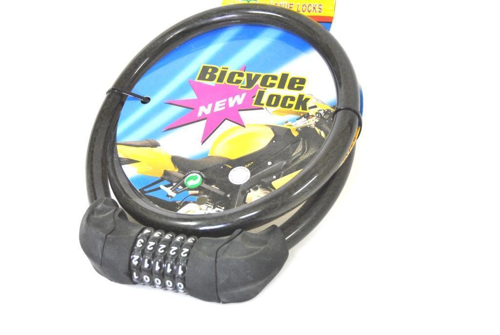 Catena Chiave Combinazione Antifurto Lucchetto Moto Bici Antitaglio 100cm hsb