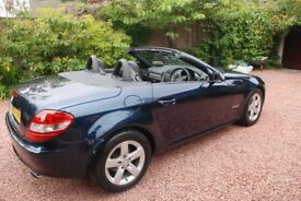 2007 Mercedes SLK 200 Kompressor 43K miles convertible hard top, METALLIC BLUE