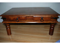 Classic, stylish wooden coffee table