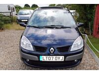 RENAULT SCENIC DYNAMIC VVT MPV 2007 ONE OWNER 94000 S/HISTORY FULL MOT ONLY £1395