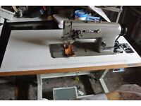 Brother Twin Needle, Needle Feed Industrial Machine ( Knock out needle)