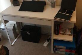 Desk - Ikea, white, small