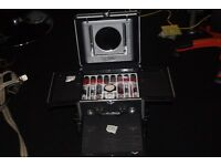 NEW BEAUTY CASE COMPLETE WITH SEALED COLOR WORKSHOP COSMETICS, CAN POST