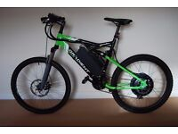 Dual Suspension Mens Mountain Electric Bike E-Bike 1000W Updated To 1600W Max