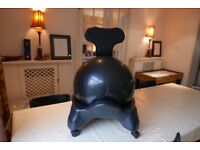 Black balance ball chair
