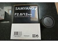 Samyang 12mm F2.8 fisheye lens for Sony E mount (full frame)