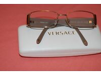 Ladies Versace glass frames and case