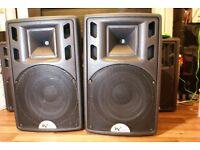 w audio psr 15 350 w rms full range passive speakers