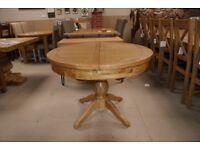 Oak Round Extending Dining Table. Cherwell Oak