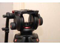 Manfrotto 504HD professional video head Manfrotto 546GB two stage tripod legs