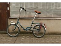 Vintage Peugeot folding bike with new 'city-proof' wheels
