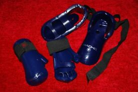 Taekwondo gloves and feet protectors for kids 8-10 years