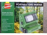 Gas heater, portable gas