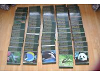 62 VOLUMES OF THE ILLUSTRATED ENCYCLOPEDIAS OF WILDLIFE