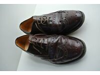 Gordon Scott Everest full brogue vintage shoes; 6F; burgundy; calf leather uppers in good condition