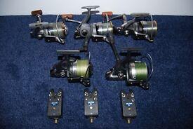 Carp fishing tackle, top names, Rods, reels, alarms.