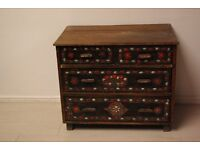 Beautiful Solid wood unit with 4 chest drawers