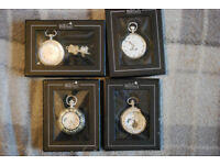 4 x Atlas Edition Pocket Watches