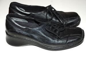 """fall Woman's BLACK Leather Shoes Size 5.5 """"Naturalizer"""" Store"""