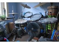 Traps acoustic drum kit with Paiste cymbals