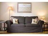Great condition Dark Brown Ikea Ektorp double sofa bed