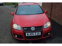 VW GOLF TFSI GTI MK5 YEAR 2005 RED 5 DOOR HATCHBACK 81500 MILES FSH MOT 11 MONTHS £3995