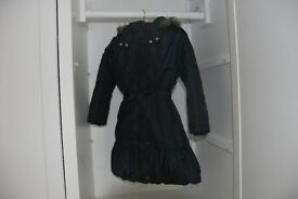 Lovely Monsoon navy blue girls school coat for 7 - 8 years old