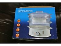 Tesco 3 Tier Steamer - White