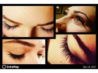 Classic eyelash extensions and lifting, tinting