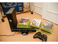 Xbox 360, games, kinect and controller