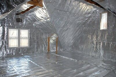 1000sqft Radiant Barrier Solar Attic Foil Reflective Nasa Insulation 2x500 Perf