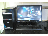 HP Pavilion, Intel Core i3 - 2120 2.20 GHz, 4 GB Ram, 1T HDD, Monitor, Keyboard & Mouse, OEM Sticker