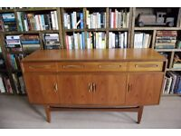 G Plan Fresco short 5 foot SIDEBOARD Danish modern teak era mid vintage 4072 1960s gplanera