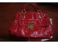 EPISODE Designer red handbag(used) excellent condition