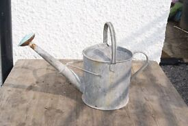 vintage Galvanised 1 gallon watering can