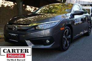 2016 Honda Civic Touring + NAVI + LEATHER + LOCAL + NO ACCIDENTS