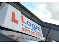 Learn with Logic! Male & Female Instructors, Manual & Automatic driving lessons, Theory test support