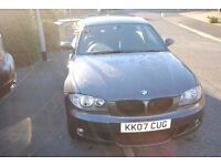 BMW 118D M SPORT 2007 3 DOOR HATCH FSH GREY 129K ONLY £3795