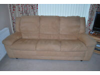 3 Piece Suite, 2 Manual Recliner Chairs, and a 3 Seater sofa