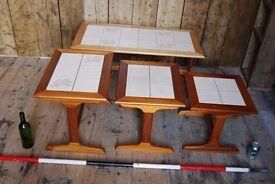 DANISH style teak 4 table set mid century modern Brighton vintage coffee lamp occasional gplanera