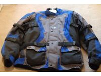Motorcycle Jacket Blue in Good condition...ONLY £40....
