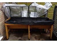 Medium 1.8 m VegTrug with Liner, Covers & Frame