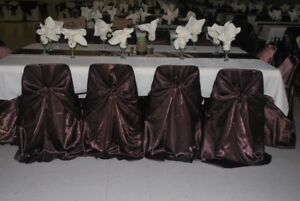 250 Chair Covers Wedding/Event Brown $1.50/each