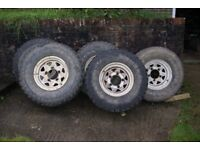 Set of 5 Land Rover Defender Wheels and Tyres