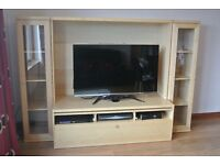 TV and display combination wall unit