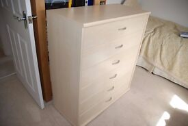 6 drawer Nollte Moebel chest of drawers. As-new condition