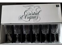 Sherry glasses by Cristal d'Arques Beaugency style boxed set of 6