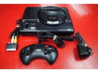 Sega Mega Drive 16-Bit with One Controller and All Leads £35