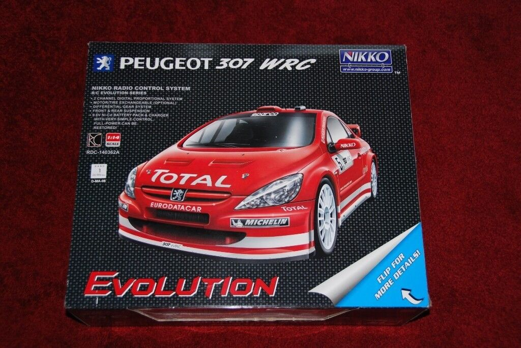 Nikko remote control car 1:14 Peugeot WRC with charger | in Edinburgh |  Gumtree